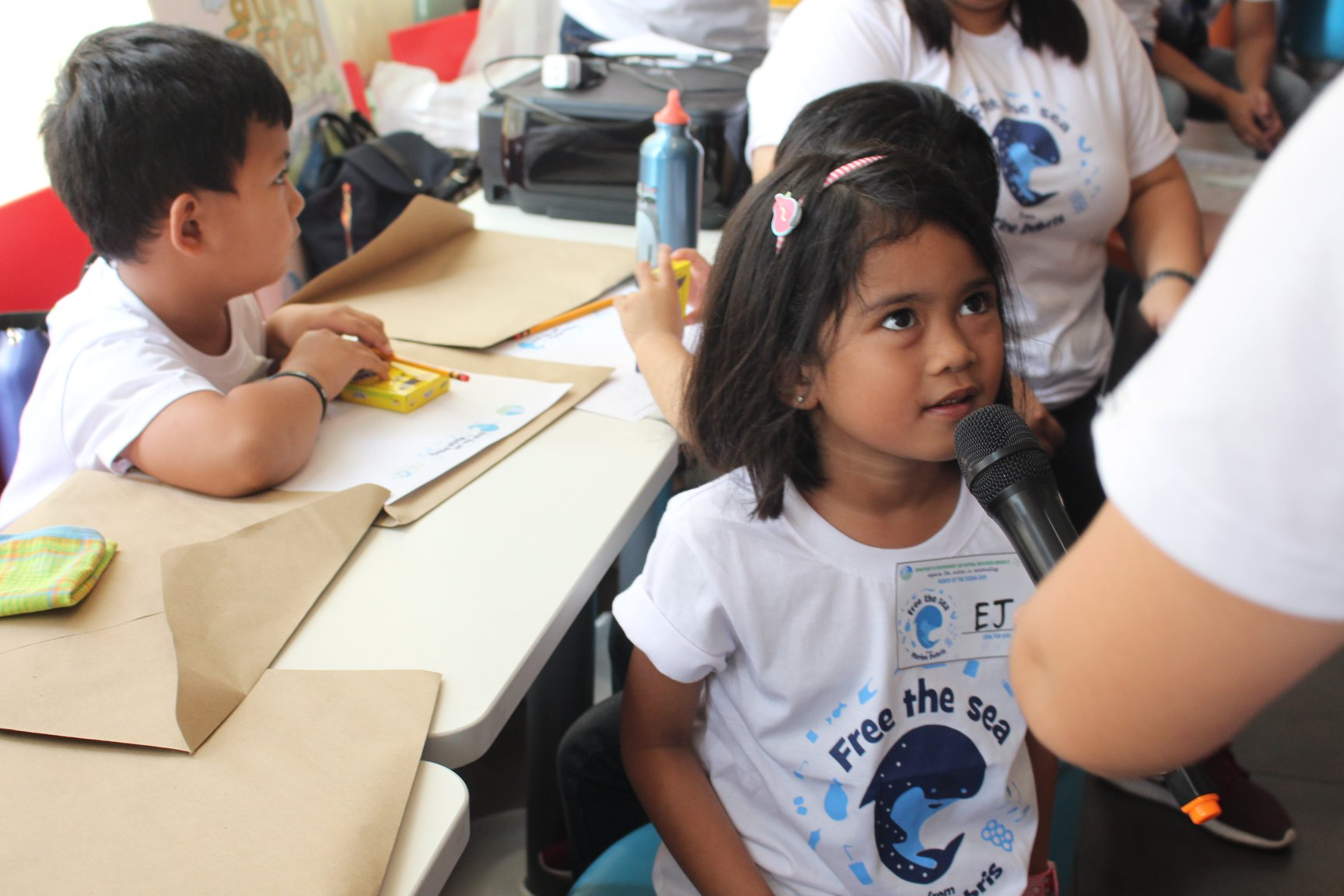 DENR underscores the role of children in protecting the ocean